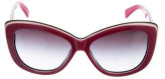 Dolce & Gabbana Butterfly Gradient Sunglasses