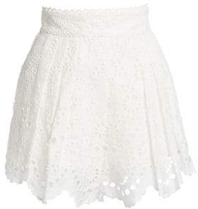 Zimmermann Bowie Scalloped Eyelet Shorts