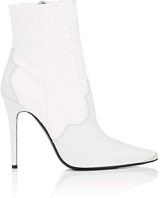 Amiri Women's Snakeskin-Embossed Leather Ankle Boots