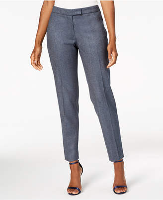 Anne Klein Herringbone Slim-Leg Pants, Created for Macy's