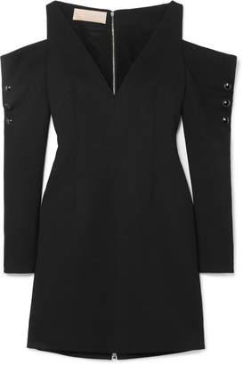 Antonio Berardi Cold-shoulder Crepe Mini Dress - Black