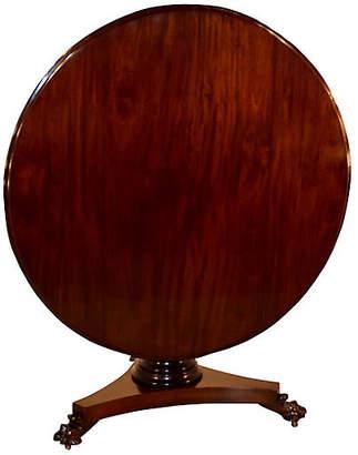 One Kings Lane Vintage 19th-C. Mahogany Tilt-Top Table - Black Sheep Antiques