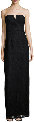Donna Morgan Strapless Lace Column Gown $84 thestylecure.com