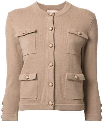 Michael Kors cashmere patch pocket cardigan