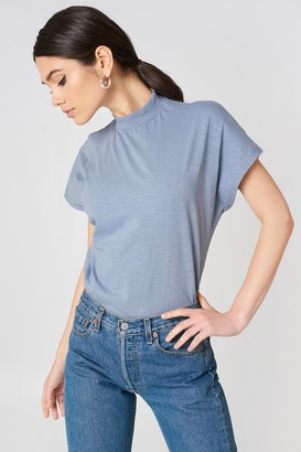Na Kd Trend High Neck Cap Sleeve Top