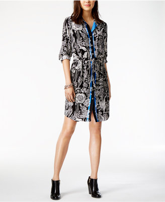 Tommy Hilfiger Floral-Print Shirtdress, Only at Macy's $129.50 thestylecure.com