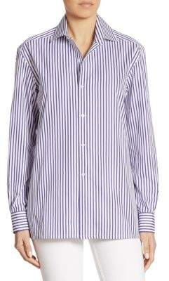 Ralph Lauren Collection Capri Striped Cotton Shirt