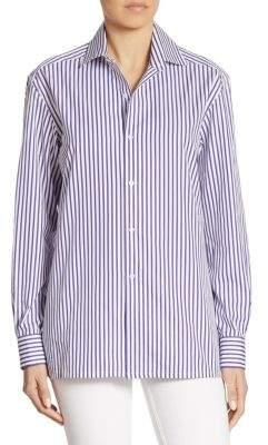 Ralph Lauren Collection Capri Striped Cotton Shirt