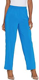 Bob Mackie Bob Mackie's Straight Leg Pull-On WovenPants