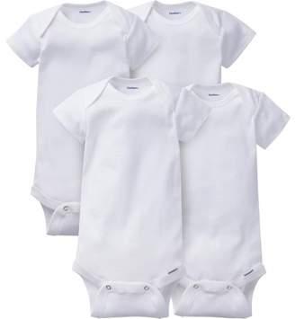 Gerber Newborn Baby Onesies Brand Organic Short Sleeve Bodysuits, 4-pack