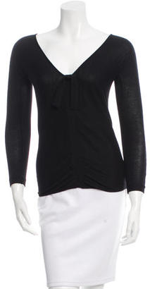 Vera Wang Ruched Cashmere Sweater $95 thestylecure.com