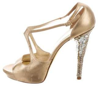 Versace Embellished High-Heel Sandals
