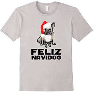 Feliz Navidog T-Shirt Funny Christmas Frenchie Dog Tee