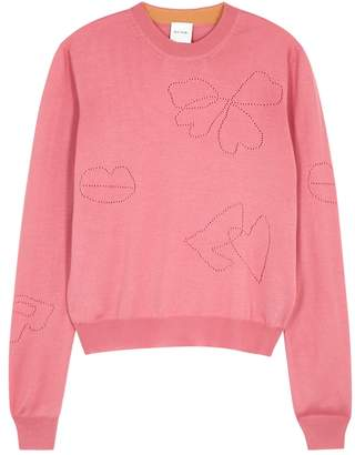 Paul Smith Pink Wool And Silk Blend Jumper