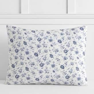 Pottery Barn Teen Vintage Floral Matelasse Sham, Standard, Blue