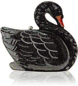Judith Leiber Couture Swan Crystal Minaudiere