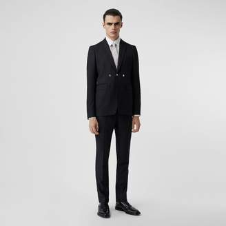 Burberry English Fit Triple Stud Pinstriped Wool Tailored Jacket