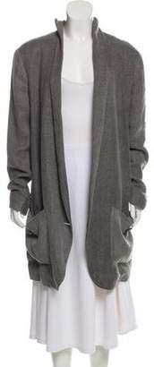 Theyskens' Theory Shawl-Lapel Tweed Coat