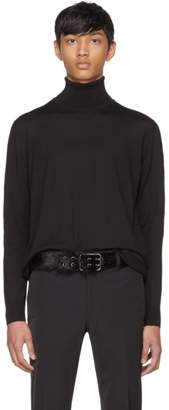 Prada Black Wool Turtleneck