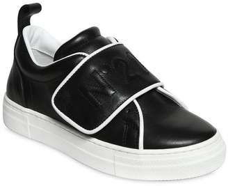 N°21 Embroidered Logo Nappa Leather Sneakers