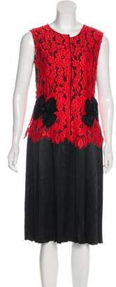 Marc Jacobs Lace-Accented Midi Dress w/ Tags
