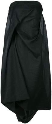Rick Owens Twist Strapless dress