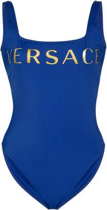 Versace Logo-Print Swimsuit Size: 1