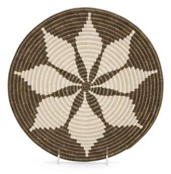 Bed Bath & Beyond Cocoa Hope Bowl 12-Inch Round Woven Wall Art