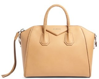 Givenchy Small Antigona Woven Handle Leather Satchel - Beige $2,895 thestylecure.com