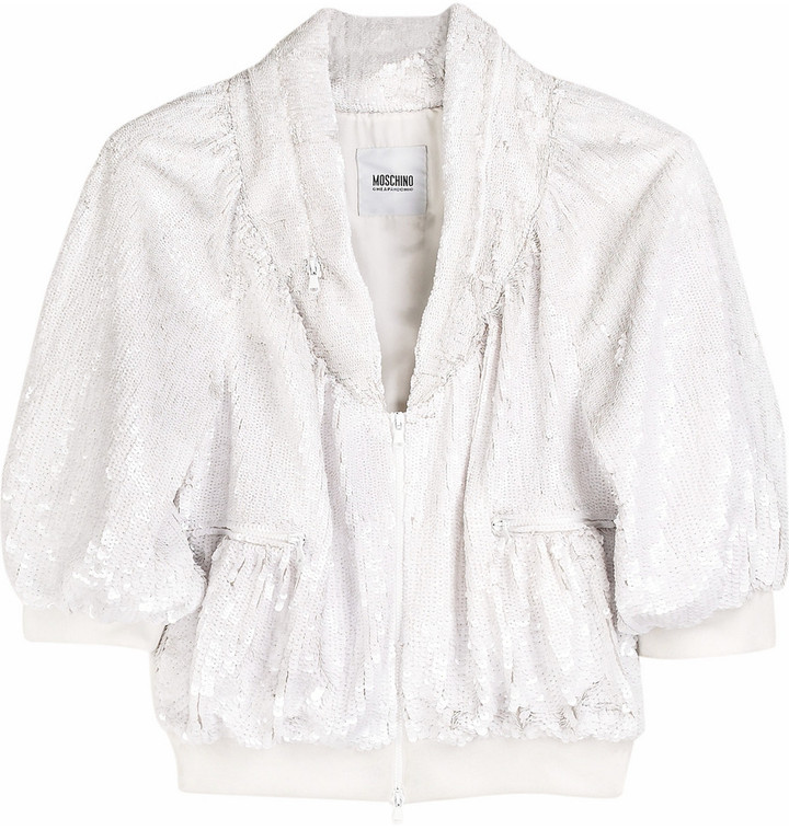 Moschino Cheap & Chic Sequin cropped jacket