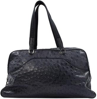 Prada Ostrich bowling bag