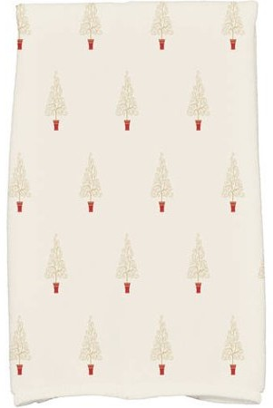 Holiday Essence Filigree Forrest Geometric Print Kitchen Towel