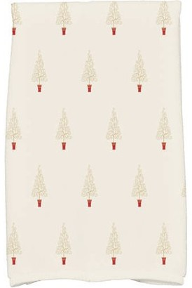 Holiday Essence Filigree Forrest Geometric Print Kitchen Towel