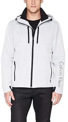 Calvin Klein Men's Nylon Hooded Jacket Full Zip