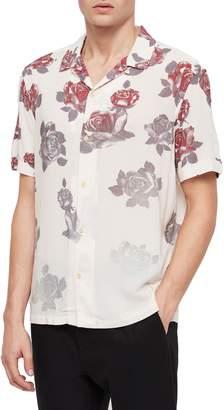 AllSaints Thorn Regular Fit Short Sleeve Sport Shirt