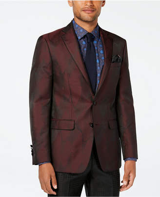 Tallia Men Big & Tall Slim-Fit Burgundy Wave Dinner Jacket
