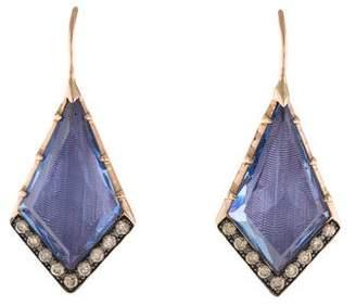 Larkspur & Hawk 14K Crystal & Diamond Drop Earrings