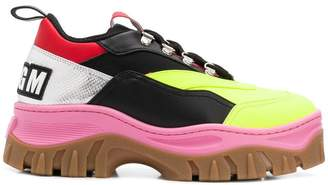 MSGM Tractor colour-block sneakers