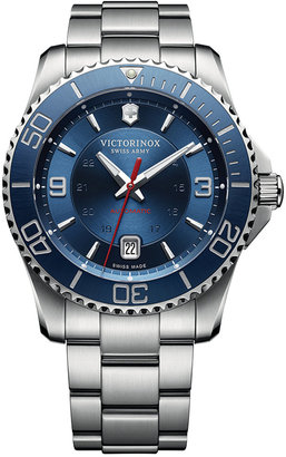Victorinox Swiss Army Men's Swiss Maverick Stainless Steel Bracelet Watch 43mm 241706 $895 thestylecure.com