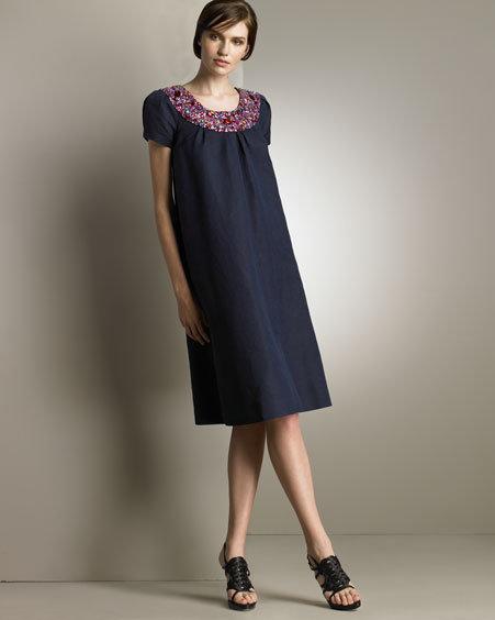 Dior Jeweled A-Line Dress