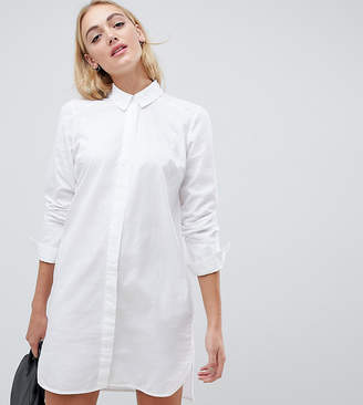 Asos Tall DESIGN Tall cotton mini shirt dress