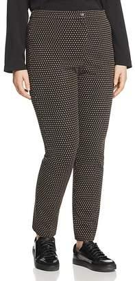 Marina Rinaldi Oboista Printed Jersey Pants