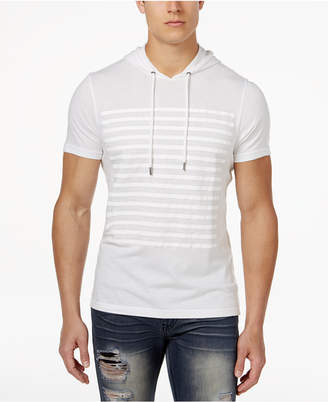 INC International Concepts I.n.c. Men's Striped Short-Sleeve Hoodie, Created for Macy's