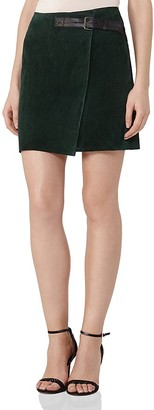 REISS Chase Suede Wrap Skirt $445 thestylecure.com