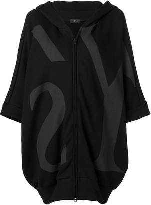 Y's large logo oversized hoodie