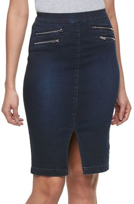 Women's Jennifer Lopez Zipper Accent Jean Skirt $54 thestylecure.com