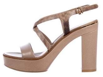 Salvatore Ferragamo Embossed Leather Sandals