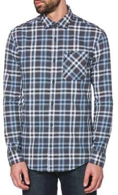 Original Penguin Holiday Long-Sleeve Heathered Lightweight Flannel Shirt