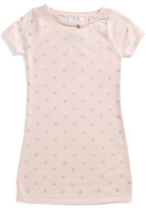 Little Girls Glitter Sweater Dress