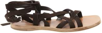 Miu Miu Brown Suede Sandals